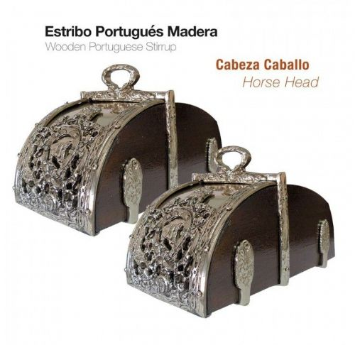 Wooden Portuguese  display stirrups